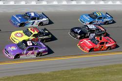 Darrell Wallace Jr., Roush Fenway Racing Ford, Justin Allgaier, JR Motorsports Chevrolet
