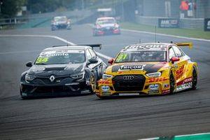 Aurélien Comte, Vukovic Motorsport Renault Megane RS, Tom Coronel, Comtoyou DHL Team Audi Sport Audi RS3 LMS