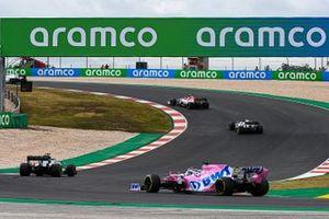 Antonio Giovinazzi, Alfa Romeo Racing C39, Daniil Kvyat, AlphaTauri AT01, Romain Grosjean, Haas VF-20, and Sergio Perez, Racing Point RP20