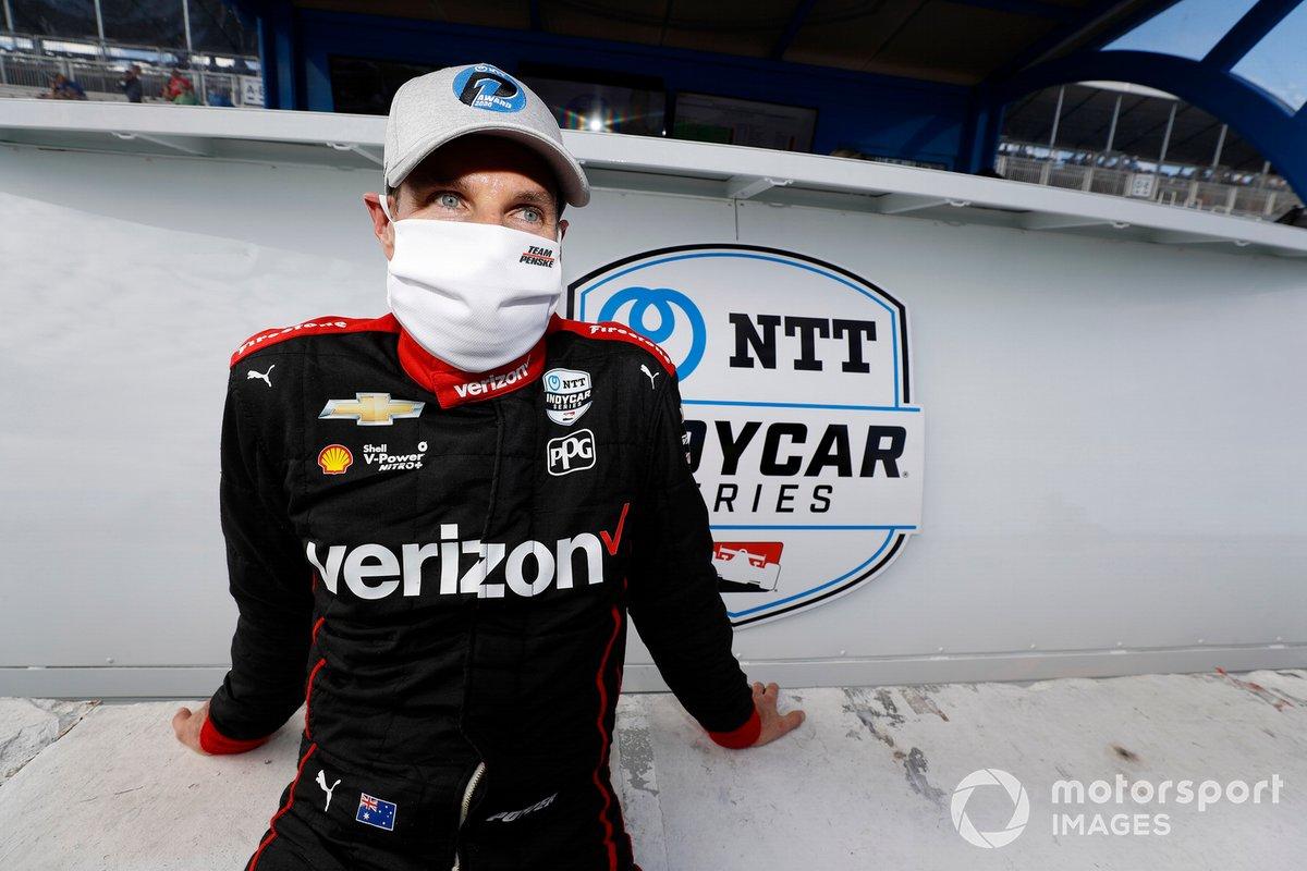 El autor de la pole Will Power, Team Penske Chevrolet