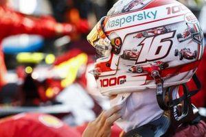 Charles Leclerc, Ferrari, in the pit lane