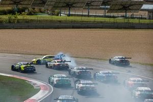 Timo Glock, BMW Team RMG, BMW M4 DTM spins after contact with Ferdinand Habsburg, Audi Sport Team WRT, Audi RS 5 DTM