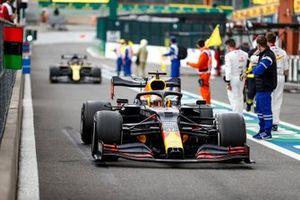 Max Verstappen, Red Bull Racing RB16, 3° posto, arriva nel parco chiuso