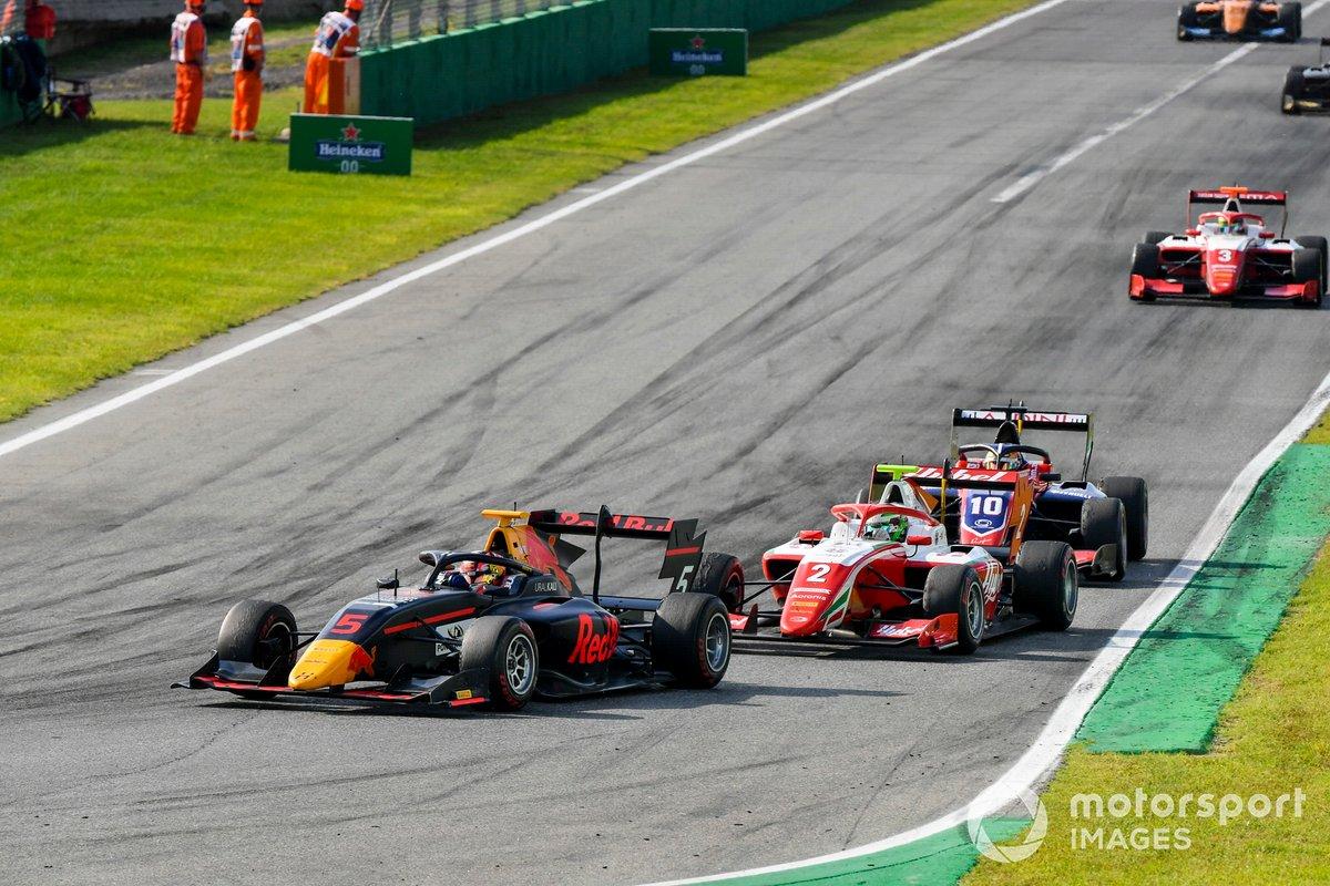 Liam Lawson, Hitech Grand Prix y Frederik Vesti, Prema Racing