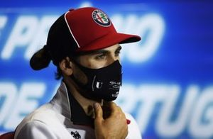 Antonio Giovinazzi, Alfa Romeo, in the press conference