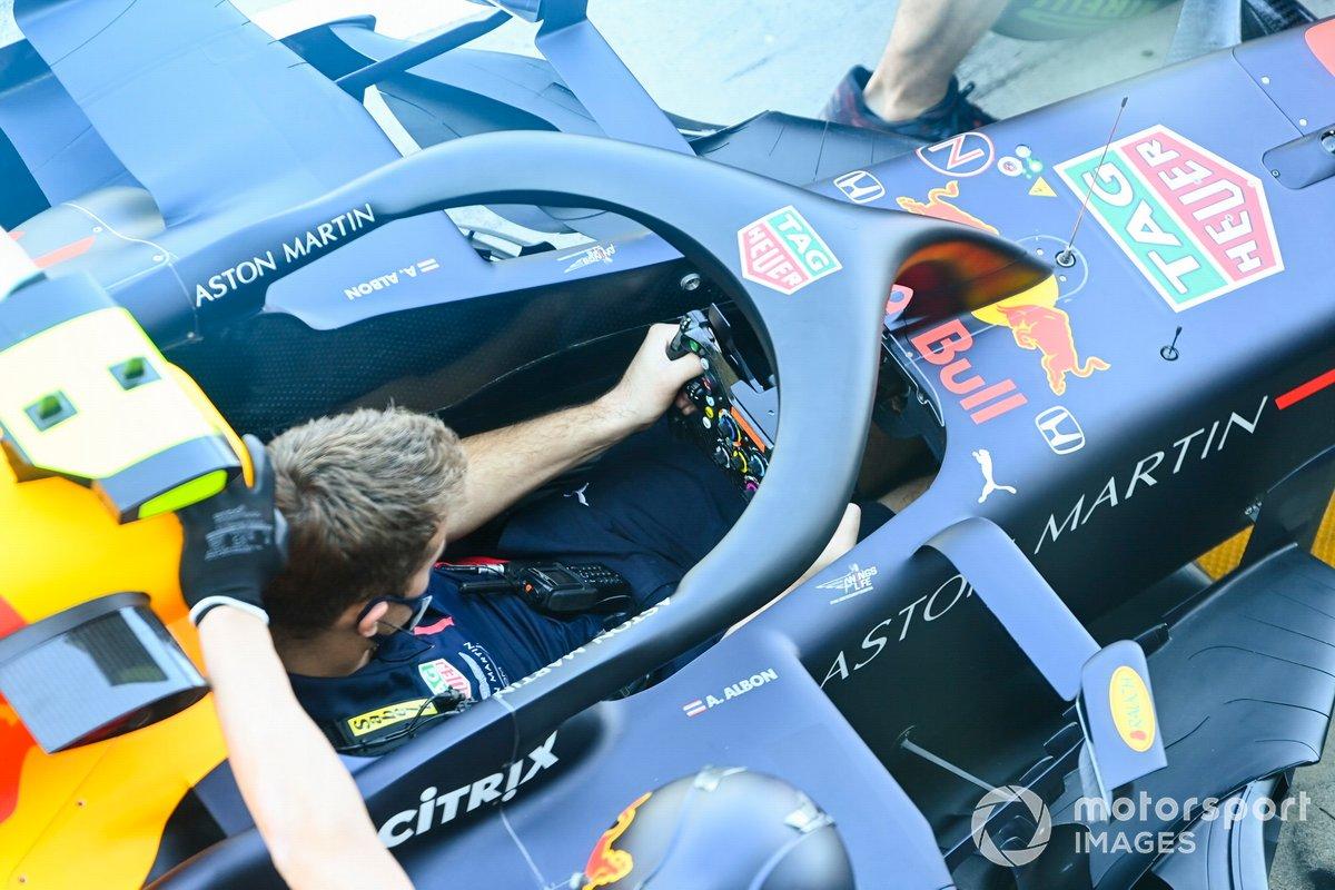 El cockpit del Red Bull Racing RB16