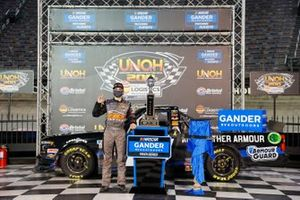 Sam Mayer, GMS Racing, Chevrolet Silverado Armour Guard in victory lane