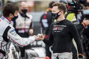 #3 Rebellion Racing Rebellion R-13 - Gibson: Romain Dumas and #7 Toyota Gazoo Racing Toyota TS050: Mike Conway