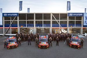 Thierry Neuville, Martijn Wydaeghe, Ott Tanak, Martin Jarveoja, Dani Sordo, Candido Carrera, Andrea Adamo, Scott Noh, Hyundai Motorsport