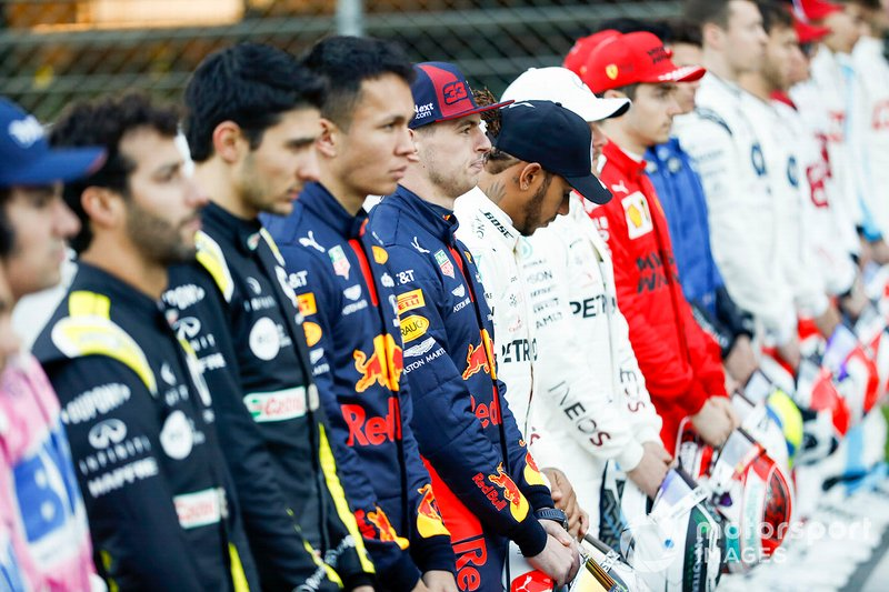 Max Verstappen, Red Bull Racing y Lewis Hamilton, Mercedes-AMG Petronas F1
