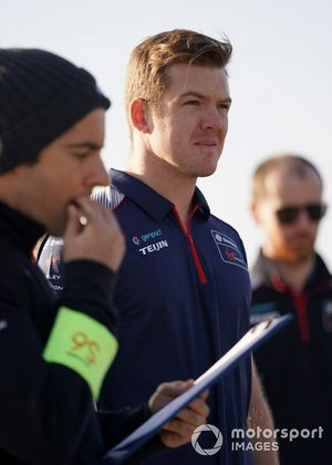 Nick Cassidy Virgin Racing on his track walk