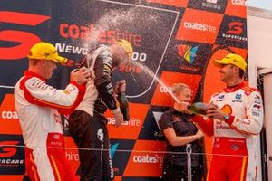 Podium: race winner Shane van Gisbergen, Triple Eight Race Engineering, second place Scott McLaughlin, DJR Team Penske, third place Fabian Coulthard, DJR Team Penske