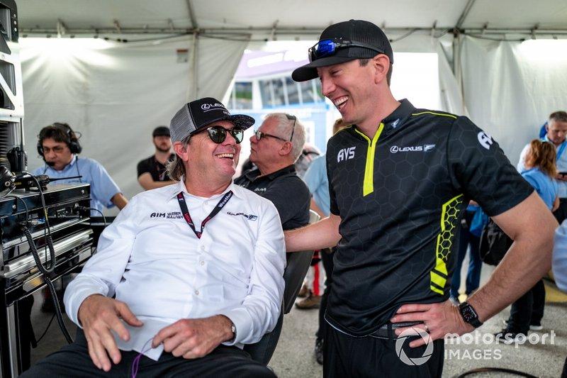 #14 AIM Vasser Sullivan Lexus RC-F GT3, GTD: Kyle Busch, mit Jimmy Vasser