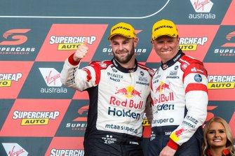 Podium: second place Shane Van Gisbergen, Garth Tander, Triple Eight Race Engineering