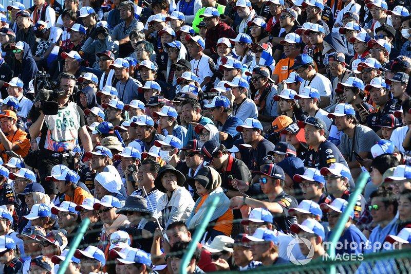 Fan riempono le gradinate al GP del Giappone
