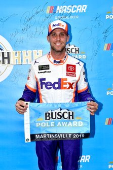 Denny Hamlin, Joe Gibbs Racing, Toyota Camry FedEx Freight wins the pole