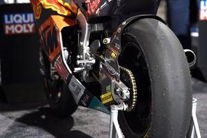 La moto di Tetsuta Nagashima, KTM Ajo in Parco chiuso