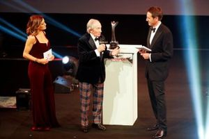 Sir Jackie Stewart presents the Gregor Grant award for the Monaco Grand Prix