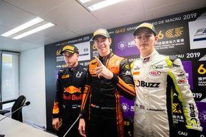 Press Conference, Jüri Vips, Hitech Grand Prix, Richard Verschoor, MP Motorsport, Logan Sargeant, Carlin Buzz Racing
