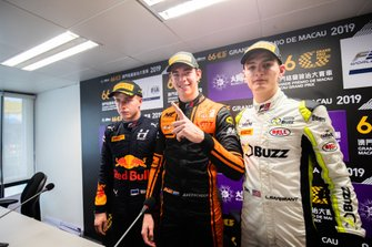 Press Conference, Jüri Vips, Hitech Grand Prix, Richard Verschoor, MP Motorsport, Logan Sargeant, Carlin Buzz Racing