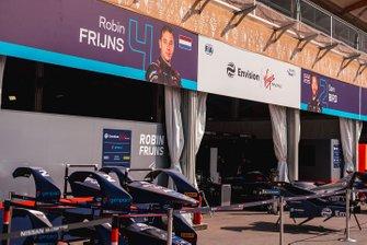 Garaje de Robin Frijns, Virgin Racing, Sam Bird, Virgin Racing