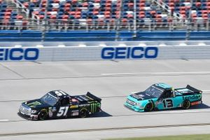 Riley Herbst, Kyle Busch Motorsports, Toyota Tundra Monster Energy/Advance Auto Parts, Johnny Sauter, ThorSport Racing, Ford F-150 Tenda Heal