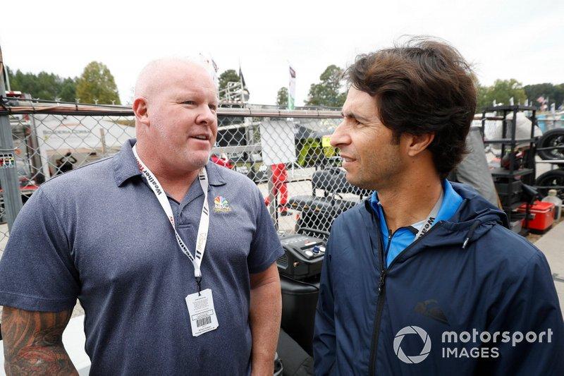Bruno Junqueira con Paul Tracy de NBC