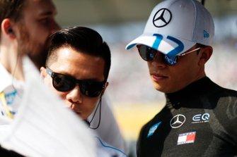 Nyck De Vries, Mercedes Benz EQ, on the grid
