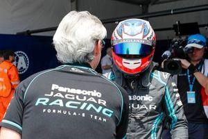 Mitch Evans, Panasonic Jaguar Racing, Jaguar I-Type 4, after securing pole