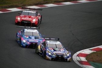 Sho Tsuboi, Lexus Team Bandoh Lexus LC500, Kenta Yamashita, Lexus Team LeMans Wako's Lexus LC500, Ronnie Quintarelli, NISMO Nissan GT-R NISMO GT500