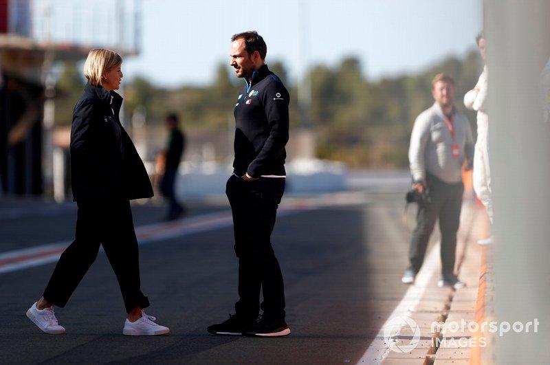 Gary Paffett, pilote de réserve, Mercedes Benz EQ, avec Susie Wolff, Team Principal, Venturi