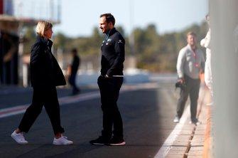 Gary Paffett, Reserve Driver, Mercedes Benz EQ with Susie Wolff, Team Principal, Venturi in the pit lane