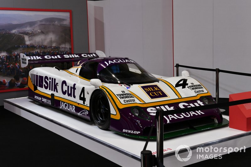 The 1988 Le Mans 24 Hours winning Jaguar XJR-9 on the Autosport stand