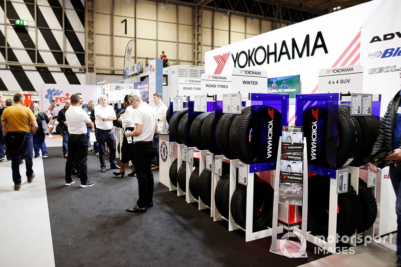 The Yokohama tyre stand