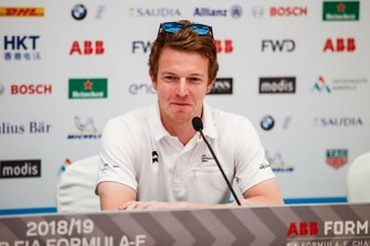 Oliver Turvey, NIO Formula E Team, in the press conference