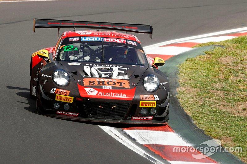 DNF: #12 Competition Motorsports / McElrea Racing Porsche 911 GT3-R: David Calvert-Jones, Kevin Estre, Jaxon Evans