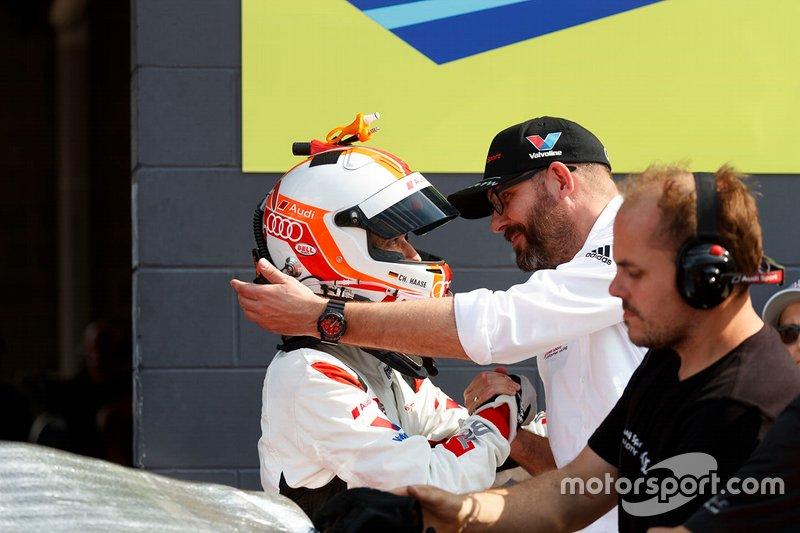 #2 Audi Sport Team Valvoline Audi R8 LMS: Christopher Haase, Chris Reinke, Head of Audi Sport Customer Racing