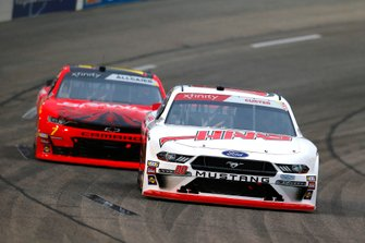 Cole Custer, Stewart-Haas Racing, Ford Mustang Haas Automation and Justin Allgaier, JR Motorsports, Chevrolet Camaro BRANDT Professional Agriculture