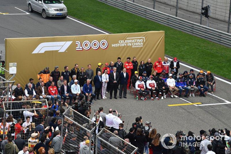 Cerimônia: A foto do GP 1000 da F1