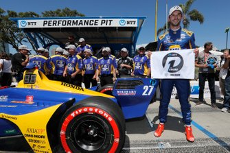 Le poleman Alexander Rossi, Andretti Autosport Honda