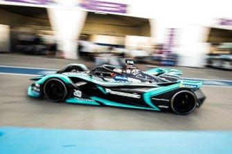 Mitch Evans, Jaguar Racing, Jaguar I-Type 3, drives down the pit lane