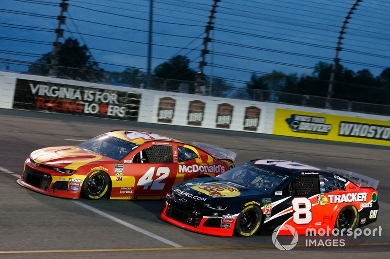 Kyle Larson, Chip Ganassi Racing, Chevrolet Camaro McDonald's Daniel Hemric, Richard Childress Racing, Chevrolet Camaro Bass Pro Shops / Tracker Boats