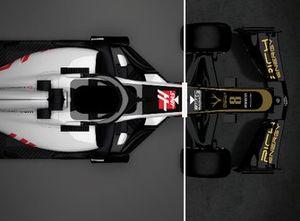 Comparación entre el Haas VF18 y VF19