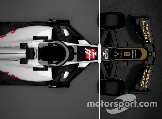 Comparaison entre les Haas VF18 et VF19