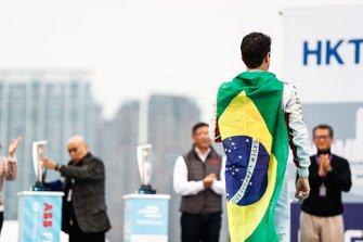 Lucas Di Grassi, Audi Sport ABT Schaeffler, 3rd position, approaches the podium
