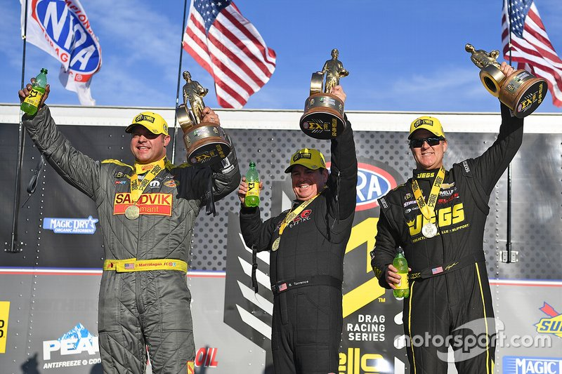Winners Matt Hagan, Billy Torrence, Jeg Coughlin