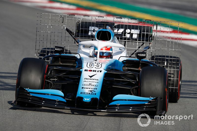 George Russell, Williams FW42 con sensores aerodinámicos