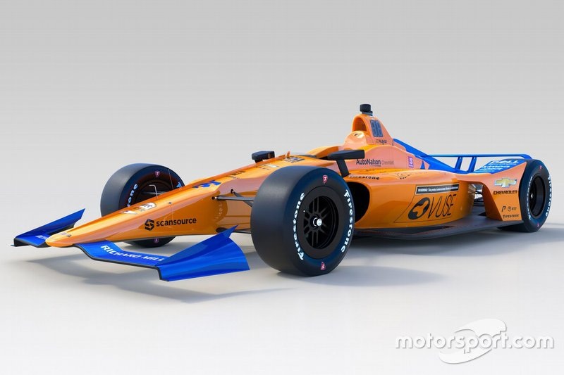 Decoración del McLaren Racing para la Indy 500 2019