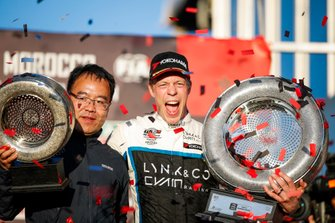 Podio: il vincitore della gara Thed Björk, Cyan Racing Lynk & Co 03 TCR