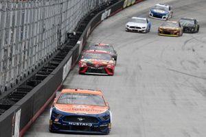 Joey Logano, Team Penske, Ford Mustang Autotrader, Kyle Busch, Joe Gibbs Racing, Toyota Camry Skittles